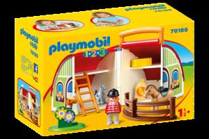 Playmobil PM 1.2.3 - Mijn meeneem manege 70180