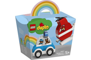 LEGO LEGO DUPLO Brandweerhelikopter en politiewagen - 10957