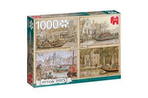 Jumbo Premium Collection Anton Pieck, Boten in de gracht 1000 stukjes