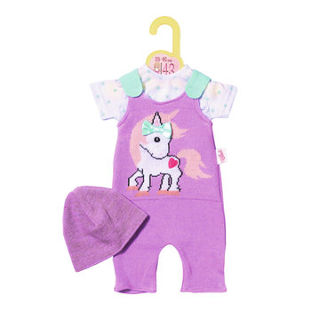 Zapf Dolly Moda Knitted Romper and Hat 43cm Poppenromper