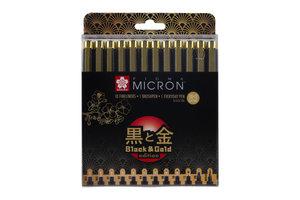 Talens Sakura Pigma Micron Black & Gold Edition Set - 12stuks