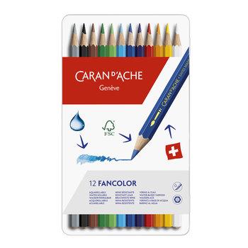 """Caran d'Ache Caran d'Ache Kleurpotlood """"Fancolor"""" - 12stuks in metalen doos"""