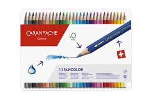 """Caran d'Ache Caran d'Ache Kleurpotlood """"Fancolor"""" - 30stuks in metalen doos"""