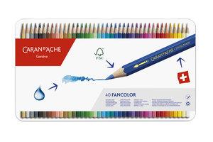 """Caran d'Ache Caran d'Ache Kleurpotlood """"Fancolor"""" - 40stuks in metalen doos"""