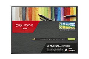 Caran d'Ache Caran d'Ache Kleurpotloden Artist Museum Aquarel - 20stuks (landscape)