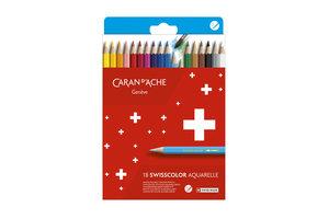 Caran d'Ache Caran d'Ache Swisscolor Kleurpotlood Aquarel - 18stuks in karton etui
