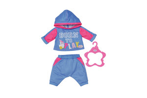 Zapf BABY born Jogging Suits 2 assorted Poppenkledingset