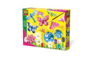 SES Creative SES Creative Gieten en schilderen - Vlinders en glitter