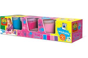 SES Creative SES Creative Vingerverf girly 4 kleuren x145ml