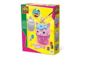 SES Creative SES Creative Gieten en schilderen - Cupcake kat