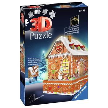Ravensburger 3D Puzzel (257stuks) - Gingerbread House - Night Edition