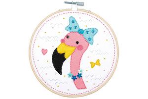 Verachtert Knutselkit met vilt - Flamingo