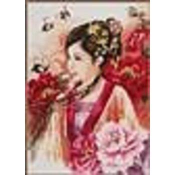 Verachtert Diamond Painting Kit - Asian Lady in Pink