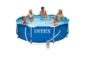 Intex Metal Frame Pool 305 x 76 cm met filterpomp