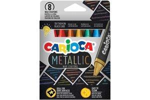 """Carioca Waskrijt """"Metallic"""" - 8stuks"""