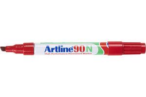 """Artline Permanente Marker """"90N"""" met schuine punt, lijndikte 2 -5 mm - rood"""
