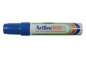 "Artline Permanente Marker ""100N"" schuine punt, lijndikte 7.5-12mm - blauw"