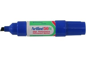 "Artline Permanente Marker ""50N"" schuine punt, lijndikte 3-6mm - blauw"