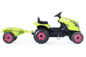 Smoby Traktor Claas Farmer XL + aanhangwagen