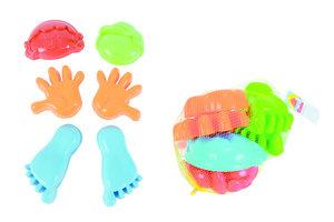 Zandvormen - 6stuks (hand/voet/hoofd)