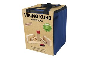 Kubb Viking Professional met Rode Koning (Rubberhout)