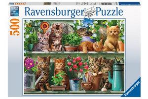 Ravensburger Puzzel (500stuks) - Katjes in het rek