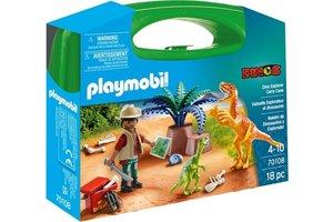 Playmobil PM Dinos - Dino explorer Carry Case 70108