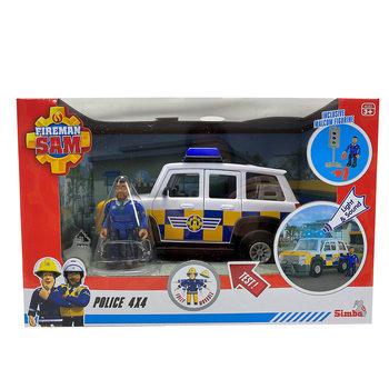 Simba Brandweerman Sam Politieauto met figuur