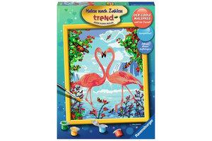 Ravensburger Schilderen op nummer - Flamingo Love