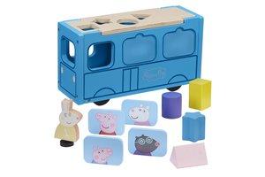 Peppa Pig - Houten schoolbus (vormensorteerder)