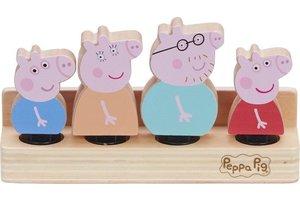 Peppa Pig - Houten Familie figuren (4stuks)