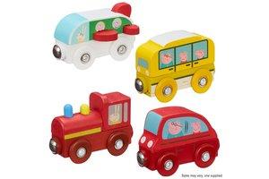 Peppa Pig - Houten mini voertuigen