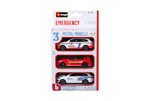 Burago Emergency Force Set - 3 stuks