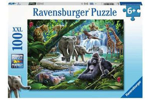Ravensburger Puzzel (100stuks XXL) - Jungle dieren