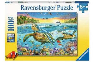 Ravensburger Puzzel (100stuks XXL) - Zeeschildpadden