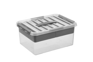 Suware Q-line MultiBox 15L - transparant/metaal