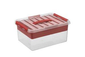Sunware Q-line MultiBox 15L - transparant/rood
