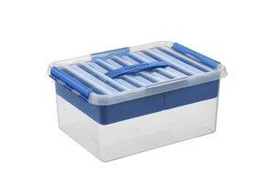 Sunware Q-line MultiBox 15L - transparant/blauw