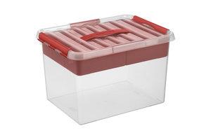 Sunware Q-line MultiBox 22L - transparant/rood