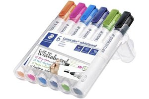staedtler Lumocolor Whiteboard box - 6 stuks