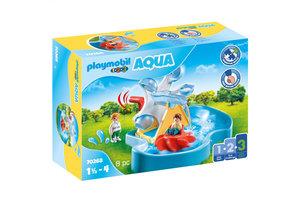 Playmobil PM 1.2.3 Aqua - Waterrad met carrousel 70268