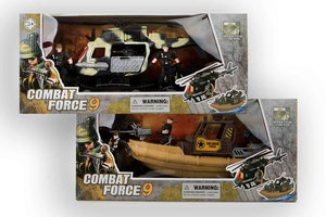 Combat Force - Militair set boot of helikopter + accessoires