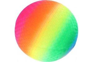 Bal Rainbow (plastic) met ventiel - 20cm