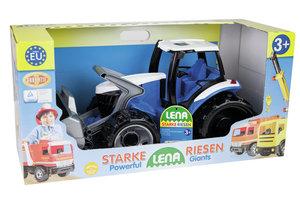 Lena Giga Trucks Tractor met voorlader (blauw/wit) - 62cm