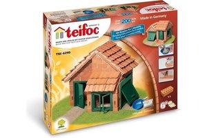 Teifoc Teifoc Bouwdoos - Huis met dakpannen 200 stuks