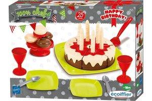 Écoiffier Eetset verjaardagstaart