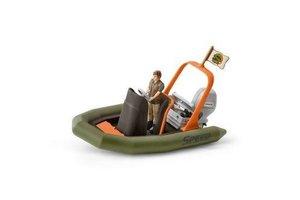 Schleich Schleich World Life - Rubberboot met ranger