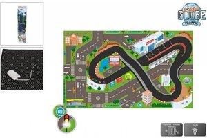 Kids Globe Speeltapijt circuit met led verkeerslichten