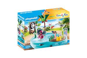 Playmobil PM Family Fun - Leuk zwembad met watersplash 70610