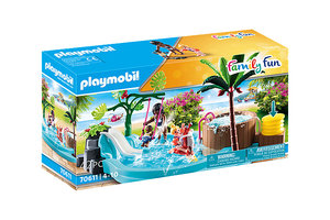 Playmobil PM Family Fun - Kinderzwembad met whirlpool 70611